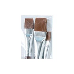 Plaid Flat Brush Set, 3pc