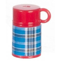 Plaid Thermos Blue