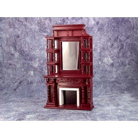 Vict Fireplace W Mirror