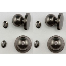 Door Knob with Keyhole, 4/Pk, Pewter