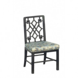 Black Chinese Chippendale Side Chair