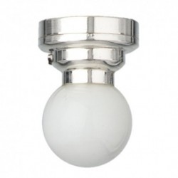 LED Silver Globe Ceiling Lamp