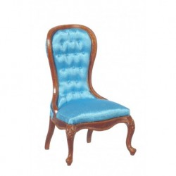 Spoon Back Slipper Chair Blue