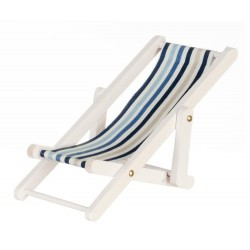 Beach Chair Blue White