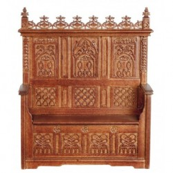 Gothic Monks Bench Walnut