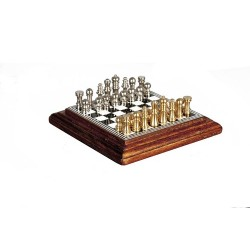 Chess Set On Board Walnut
