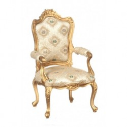 Louis XV Gilded Armchair Gold