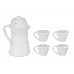White Coffee Set Set 5pc