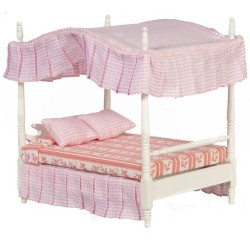 Double Canopy Bed White