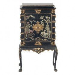 Chinese Chippendale Cabinet Black