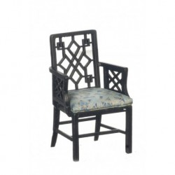 Chinese Chippendale Armchair Black