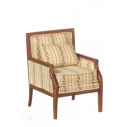 Square Framed Armchair Walnut
