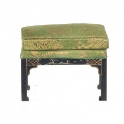Chinese Chippendale Stool Black