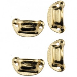 Victorian Drawer Pulls Brass 4pc
