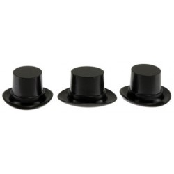 Plastic Top Hats Black
