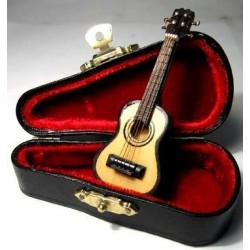Acoustic Guitar & Case. 1:12 Scale