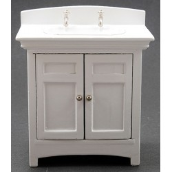 Miniature Sink Vanity, White
