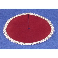 SSN: BURGUNDY VELVET TREE SKIRT