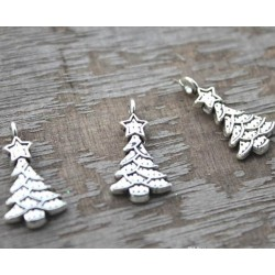 Silver Tree Ornament, 3pc
