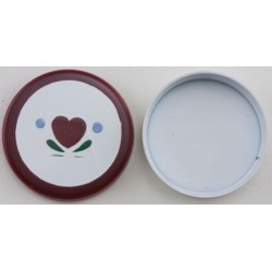 Round Tin, Heart Design