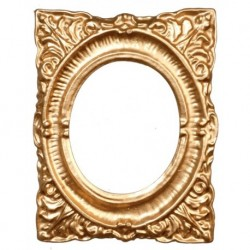 Oval Gold Frame/1.5x2