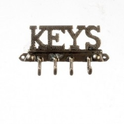 Keys Wall Hook/ant.brass