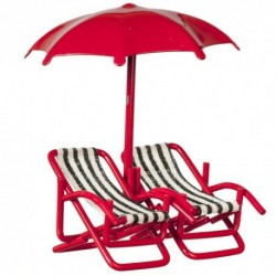 1/2in 2 Chairs/umbrella/r