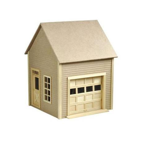 Garage kit unfinished dollhouses dollhouse kits for Large garage kits