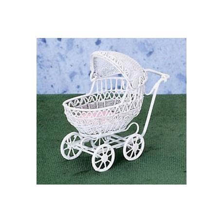 Small White Baby Buggy