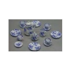 15 PC DINNER SET-BLUE FLORAL