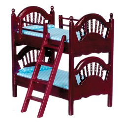 Spindle Bunk Bed Mahogany