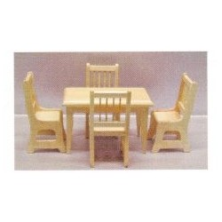 5PC OAK TABLE/CHAIR SET