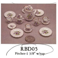 15 PC DINNER SET-GOLD/FLOWER