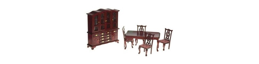 Miniature Dollhouse Dining Room Furniture